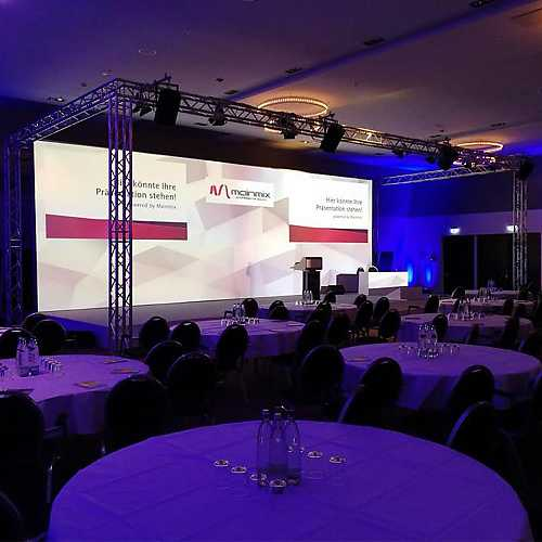 Veranstaltung - Bühne mit Leinwand